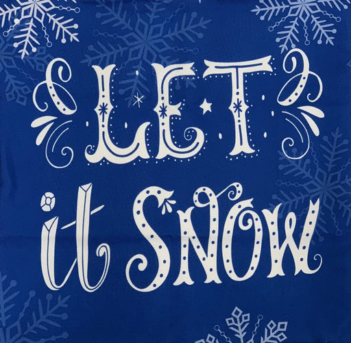 "Blue Decorative Christmas Pillow Cover - 18"" x 18"", Let It Snow Pillowcase"