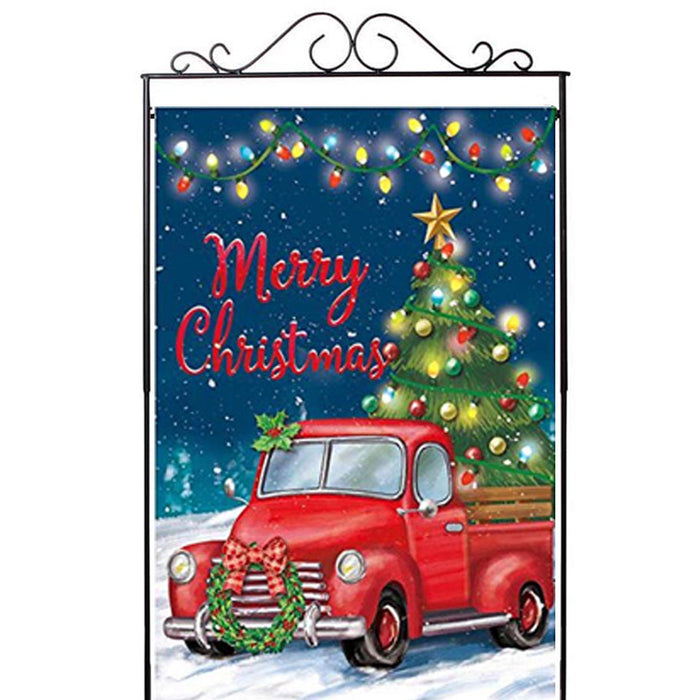 "Christmas Tree Pickup Truck House Flag - 28""x40"""