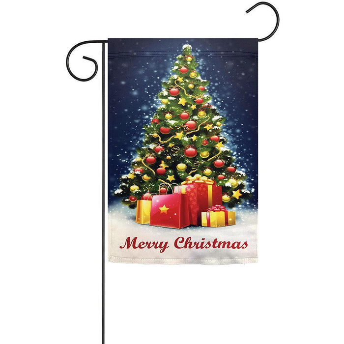 "Merry Christmas Tree Garden Flag - 12"" x 18"""