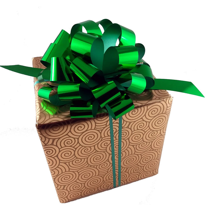 metallic-emerald-green-pull-bows