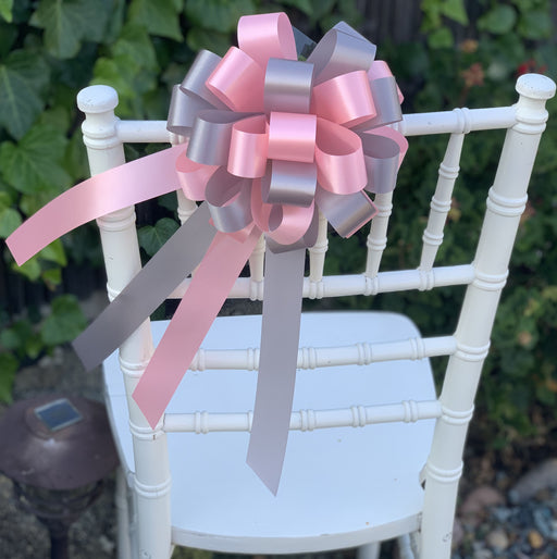 Pink and Silver Decorative Bow