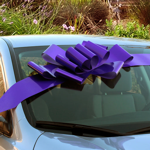 "Big Purple Car Bow Ribbon - 25"" Wide"