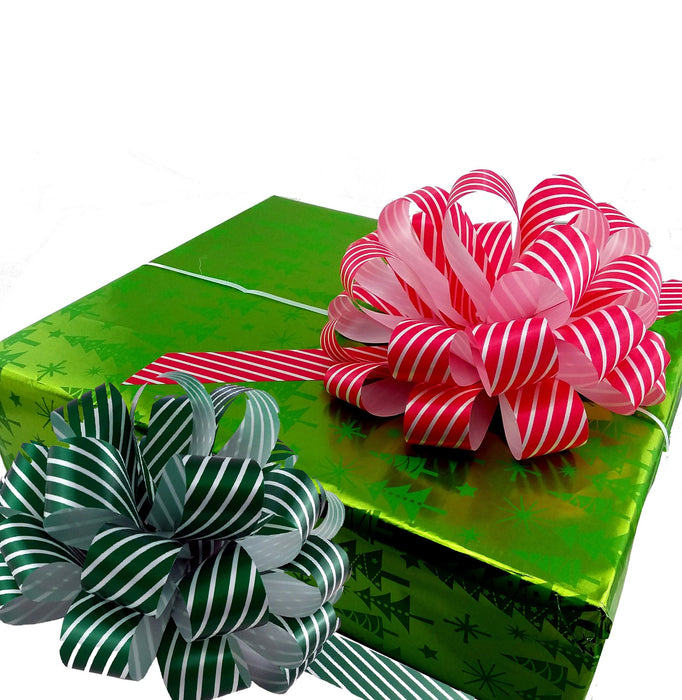 green-white-candy-stripe-pull-bows