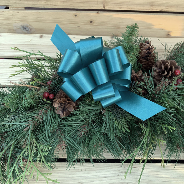 "Teal Decorative Gift Pull Bows - 5"" Wide, Set of 10"