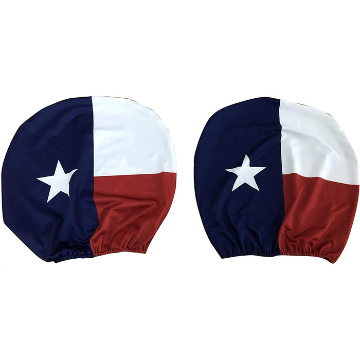 Lone Star State Headrest Covers for Cars - Set of 2, Texas State Flag