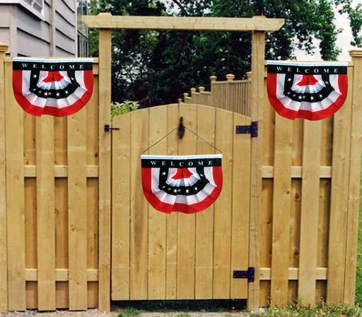 "Patriotic Welcome Sign Front Door - 10"" x 16"""