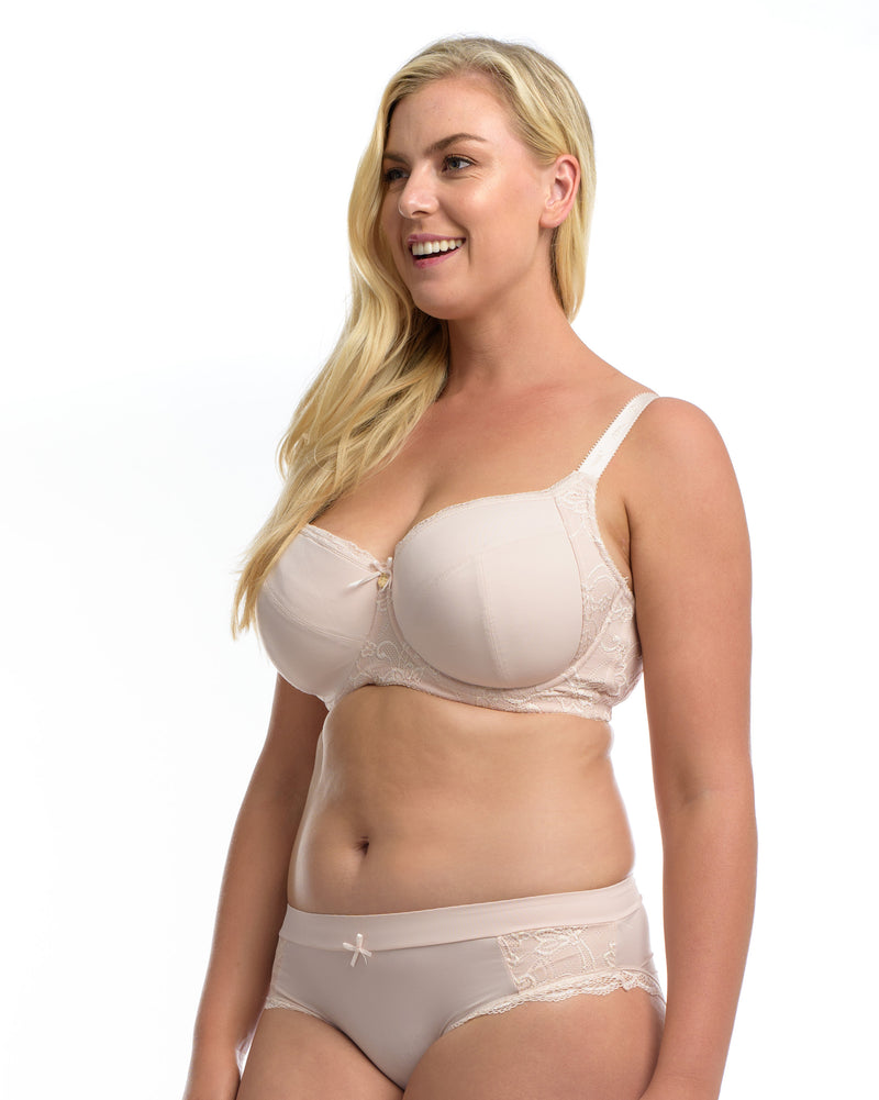 THE ESSENTIAL BALCONETTE BRA: Blush - Full Embrace