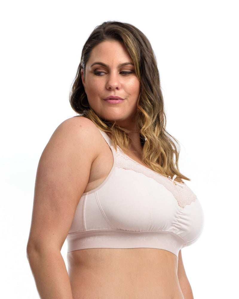 THE LOUNGE BRA: Delicate Blush - Full Embrace