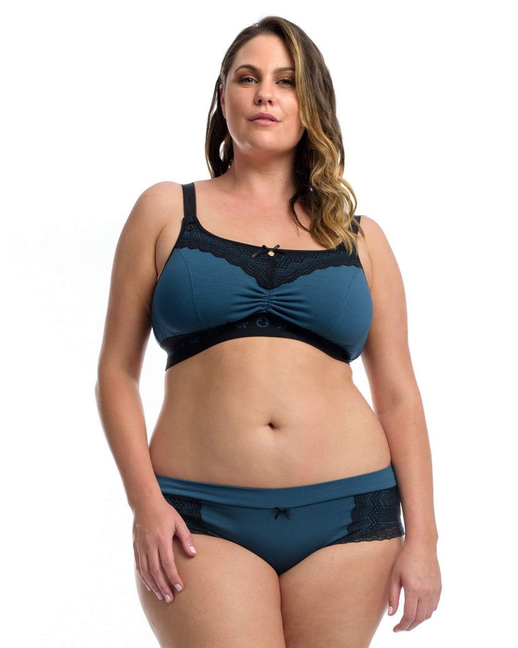 THE LOUNGE BRA: Midnight Blue - Full Embrace