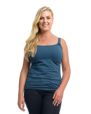 The Essential Nursing Top Midnight Blue by Full Embrace
