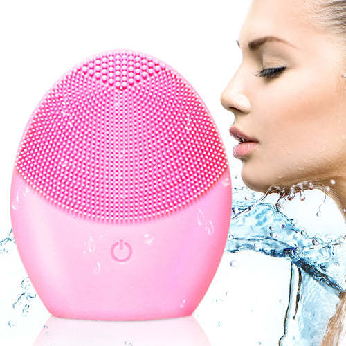 Face Cleansing Brush  Electric Facial Cleansing Brush Waterproof Beauty Deep Cleaning Remove Blackhead Pore  Cleaner VIP Drop