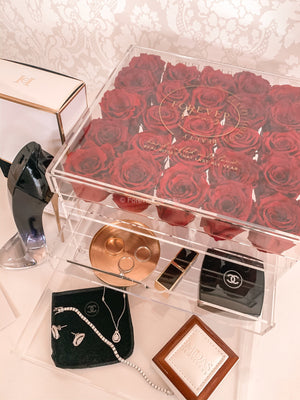 Grand Acrylic Rose Box (FREE GIFT BOX!) - Forever Fleurs