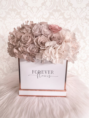 Hydrangea Wanders - Medium White Box - Pastel Dream - Forever Fleurs
