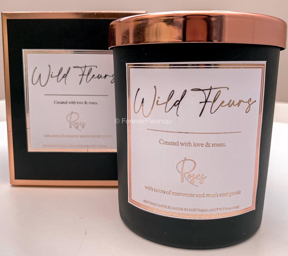 Wild Fleurs Personalised Candle - Forever Fleurs