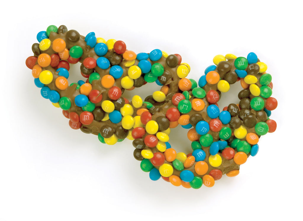 Gourmet Pretzels with M&Ms