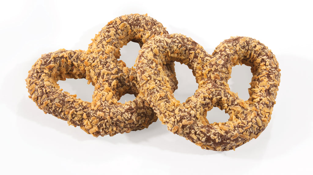 Gourmet Pretzels with Toasted Coconut