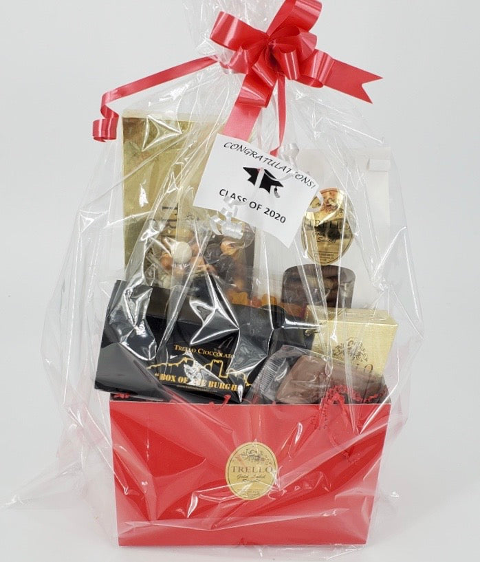 Graduation Basket - Can be customized to complement your school colors!