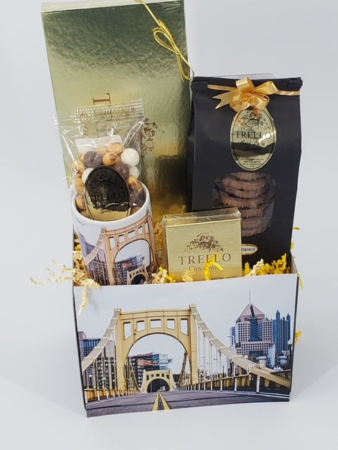 """Pittsburgh Clemente Bridge"" Basket"
