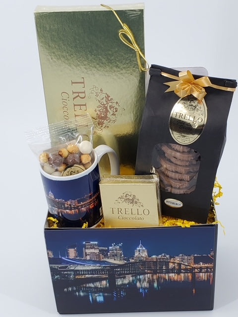 """Pittsburgh Night Allegheny River"" Basket"