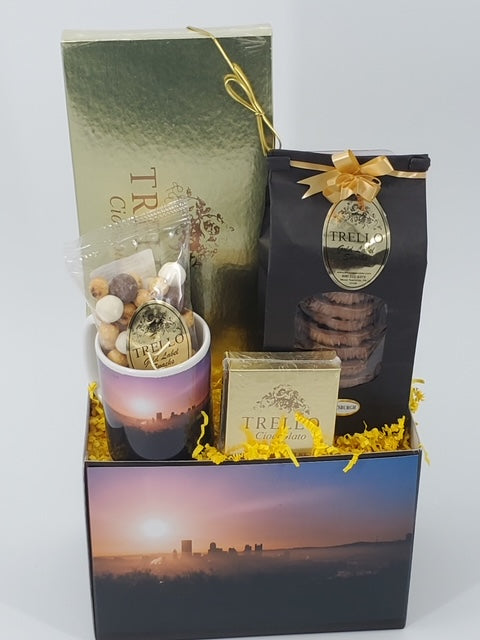 """Pittsburgh Sunrise"" Basket"