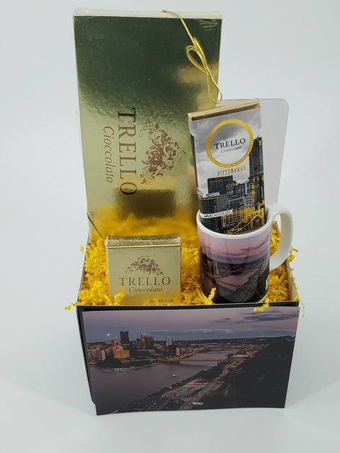 """Pittsburgh View from Mount Washington"" basket"