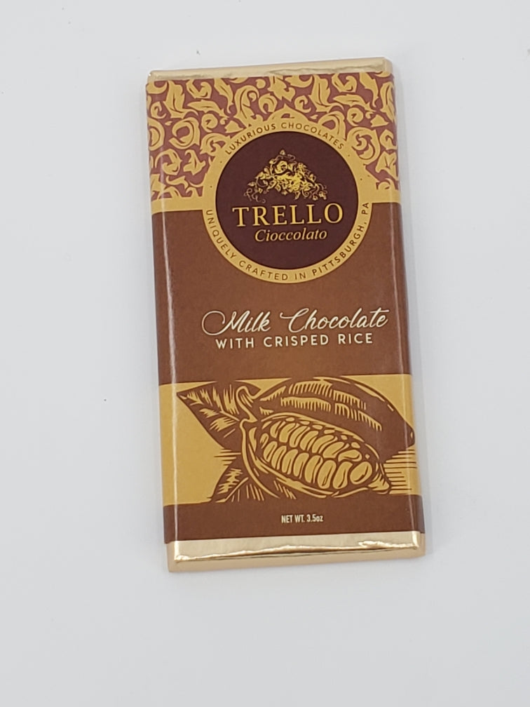 3.5 Oz. Trello Elite Chocolate Bar, Crisped Rice