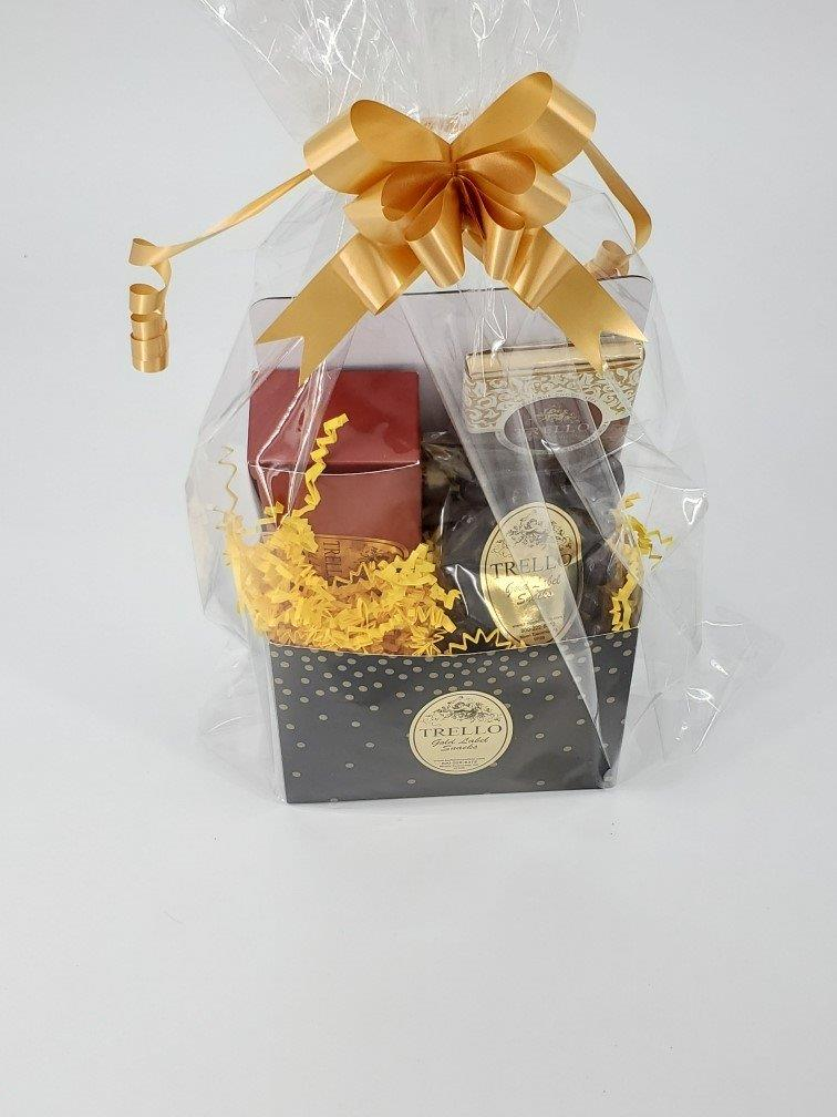 Black & Gold Dots Basket