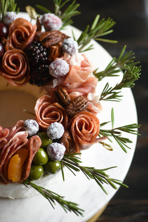 PETITE HOLIDAY CHARCUTEBRIE WREATH