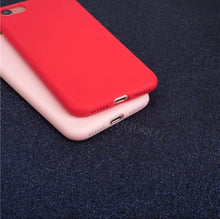 Load image into Gallery viewer, Solid Colored Soft Smooth Silicone Matte Phone Case Cover