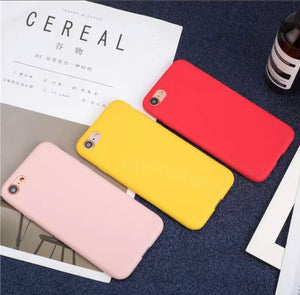 Solid Colored Soft Smooth Silicone Matte Phone Case Cover