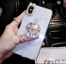 Load image into Gallery viewer, Bling Flexible Phone Case Cover w/Moon and Star Design
