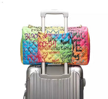 Load image into Gallery viewer, Colorful Graffiti Print Handbag with Chain Straps in Medium or Large