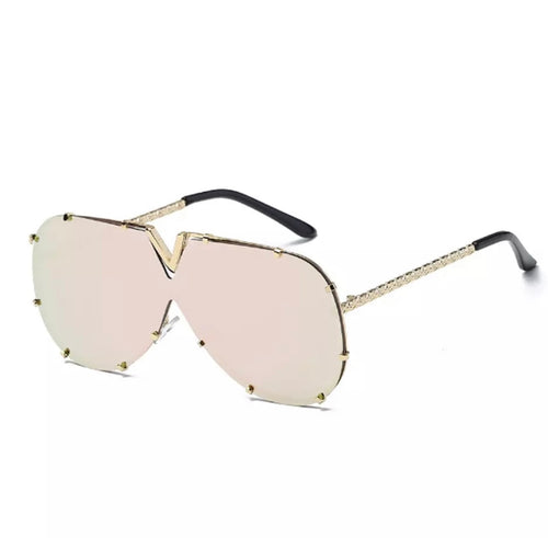 V-Bling Fashion Shades Sunglasses with Gold Colored Rims