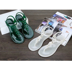 Women's PVC Jelly Style Flower Sandals