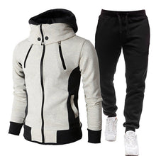 Load image into Gallery viewer, Men's Choice of Two Piece Set Tracksuit or One Piece Winter Jacket Fashion Scarf Collar Hooded+Pants Casual Fleece Zipper Jacket Coat Warm Sportswear Sports Suit