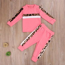 Load image into Gallery viewer, 1-6Y Girls Clothing Sets Autumn Winter Toddler Girls Clothes 2-Piece Set Outfit Kids Leopard Print Tracksuit For Children Clothing