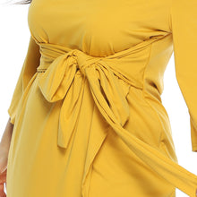 Cargar imagen en el visor de la galería, Women's New Spring Autumn Plus Size Dress Casual Long Sleeve O-neck Tie-Up Belt Dress