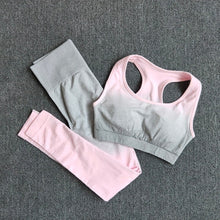 Ladda upp bild till gallerivisning, Women's Choice of One Piece 1 Pcs or Two Piece 2 Pcs Ombre Yoga Set Sports Bra and Leggings Women Gym Set Clothes Seamless Workout Fitness Sportswear Fitness Sports Suit Sportswear