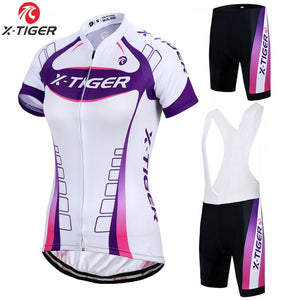 X-Tiger Pro Women Cycling Set MTB Bike Clothing Women Racing Bicycle Clothes Cycling Wear Cycling Jersey Biking Set