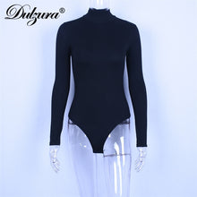 Load image into Gallery viewer, Cotton Long Sleeve Women's Bodysuit with High Neck Slim Fit Fashion Solid Body Suit