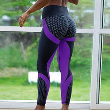 Load image into Gallery viewer, Honeycomb Printed Gym Yoga Pants Women Push Up Sport Leggings Professional Running Leggings Sport Fitness Tights
