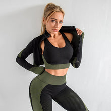 Ladda upp bild till gallerivisning, 3 Piece or 2 Piece Set Choice Women Yoga Sets Fitness Sport Wear Leggings High Support Bra Crop Top Workout Clothes Gym Seamless Yoga Suits