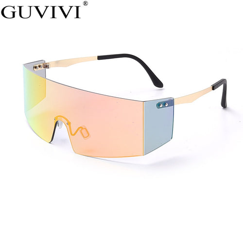Unisex Goggle Style High Fashion Stylish Oversized Sunglasses