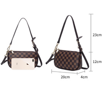 Load image into Gallery viewer, NEW PU Leather Small Beige Checker Pattern Handbag