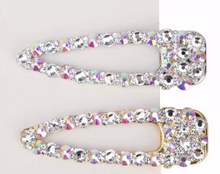 Load image into Gallery viewer, NEW BLING Rhinestone JUMBO Hair clip in Silver or Gold