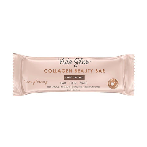 Vida Glow Collagen Beauty Bar Raw Cacao 50g