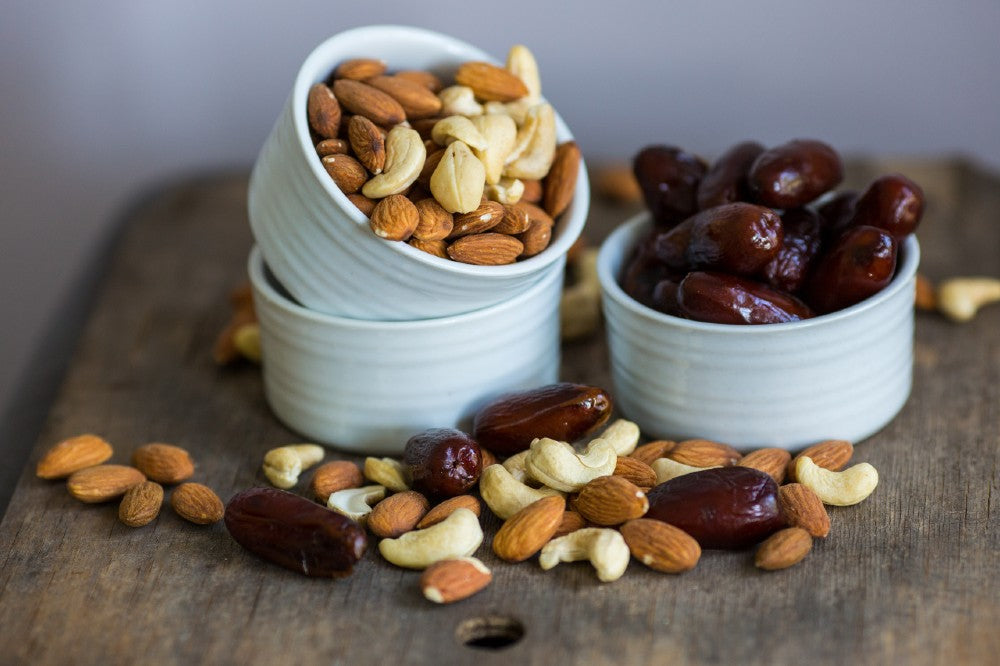healthy snack recipes - nutty dates