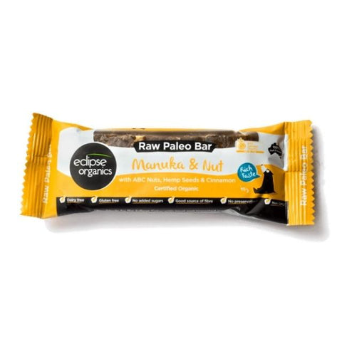 healthy organic snacks Organic Eclipse Paleo Bar Manuka and Nut 45g