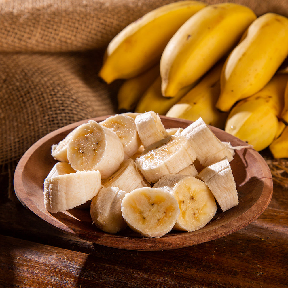 Bananas are rich in potassium and low in calorie