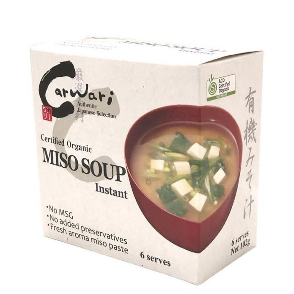 Carwari Organic Instant Miso Soup 102g x 6 pack